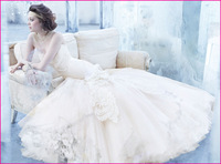 Free Shipping Sweetheart Lace Embroidered Tulle Mermaid Bridal Gown, Wedding Dresses 2013 Fall LZ3363