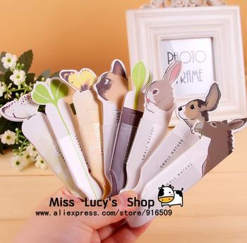 Free ship 1lot=16pcs/Korean stationery kawaii cute novelty protection paper bookmark ballpoint pen bookmarks pen cartoon animals