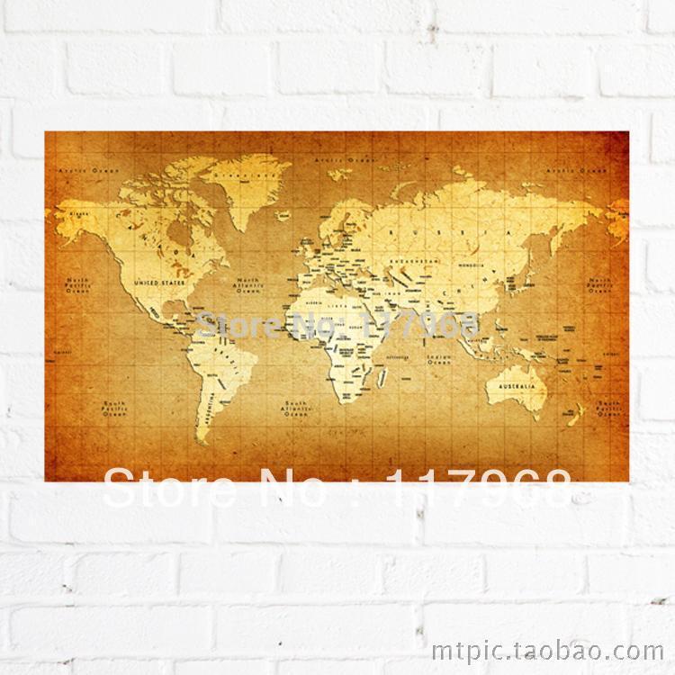 Online kopen wholesale canvas kaart van de wereld uit china canvas kaart van de wereld - Vintage bank thuis van de wereld ...