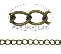 Free shipping!!!Iron Twist Oval Chain,Wedding, antique bronze color plated, nickel, lead & cadmium free, 5.50x4x0.80mm