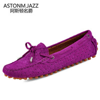 Fashion women's fashionable casual shoes Moccasins scrub genuine leather trend of the foot wrapping sailing shoes