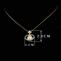 FREE SHIPPING 1piece CRKTLYN-002770525 18KGP High quality cross glittering zircon pearl necklace Retail & Wholesale jewelry