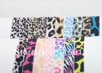 FOE Free shipping 100pcs Fold Over Elastic Hair Ties bracelet print Ribbon hair tie elastic wristbands ponytail holder