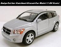 Brand New KINGSMART 1:34 Scale Diecast Metal Car Model Dodge Caliber Hatchback Silver Pull Back Car Toy In Stock