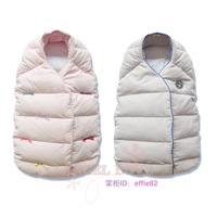 Newborn davebella autumn and winter baby stroller pure cotton vest down sleeping bag safety seat bags