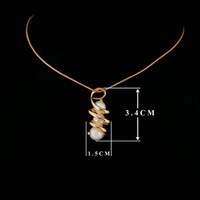 FREE SHIPPING 1piece CRKTLYN-002770525 18KGP High quality combination of three noble pearl necklace Retail & Wholesale jewelry