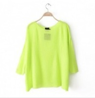 2013Hot Sale Korea Pure Color Bat-wing Sleeve Blouse Green free shipping GX13081703