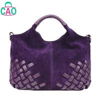 100% genuine leather handbag designer handbags fashion leisure grind arenaceous braided leather women messenger bag D10203