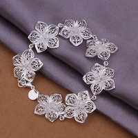 WYR888  Wholesale New Fashion Jewelry Bracelets,Flower Design 925 Silver Bracelets,Wholesale High Quality Bracelets