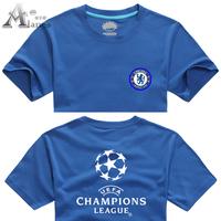 Alanes summer football men's clothing 2012 - 2013 champions league chelsea blue t-shirt
