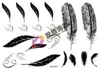 Tattoo stickers waterproof feather tattoo stickers k042