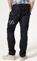 New arrival 2014 male fashionable denim trousers black straight men jeans pants
