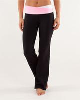 2013 loose comfortable women's yoga long trousers pink belts   long plain cotton pants customized