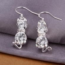 cat earrings silver price