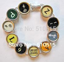 Fashion Typewriter Punctuation Key Bracelet(China (Mainland))