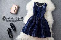 Lovable Secret - 2013 autumn fashion small vintage neckline slim one-piece dress  free shipping