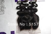 Wholesale virgin remy Filipino human hair 3 part body wave lace top closure bleached knots top piece closure,1b,off black