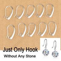 24Hours 100PCS Wholesale Lot 925 Silver Jewelry Findings 925 Sterling Silver Earring Pinch Hooks Earwire For Crystal Pearl