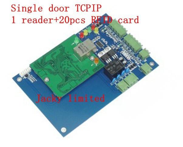 RFID access control board TCP/IP+1 pieces reader+20pcs RFID card+free english software(China (Mainland))