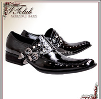 Free Ship!!!! 2013 New Gothic British POP ICONS Leather Business Casual  Men's shoes Japanese Banquet/Stage Leather shoes