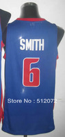 #6 Josh Smith Men's Authentic Road Blue Basketball Jersey