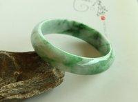 China Impression !! Guranteed 100% AAA quality Unique  Green Nature Jade jadeite Bangle