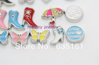 140pcs assorted CTR butterfly boot followdreams happybirthday lifetree umbrella  floating charms for glass locket