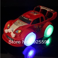 Free shipping 2013 cheapest new arrival stunning four light emitting electric toy car,music toy car for children