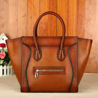 Free shiping 1 piece cowhide smiley genuine leather china wholesale handbags free shipping