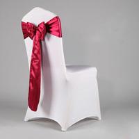 100 Satin Fabric Burgundy Chair  SashFor Wedding/Party