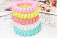 15 ! super bright q sweet jelly color telephone cord , headband