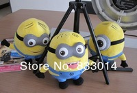 "Despicable Me Minions Plush Dolls Movie Plush Toy Jorge Stewart Dave Moive toys 7""(18cm) 3D Eyes Minions Toy with tags 100pcs"