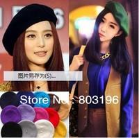 10Pcs/Lot Women's Wool Berets Fashion Casual Women Wool Hats Caps Free Shipping
