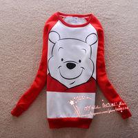 Cheap price,2013 new Woman long cute/carton Bear autum/winter warm Sweatershirts Hoodies/pullover,ladies sweet hoodie/outwear,X7