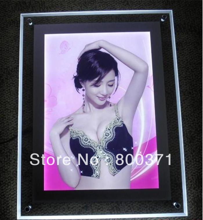 Super Slim & brilho de cristal quadro de parede publicidade display Led caixa de luz(China (Mainland))