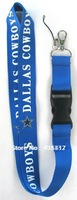 HOT NEW 20pcs/lot Dallas Cowboys PHONE LANYARD KEYS ID NECK STRAPS