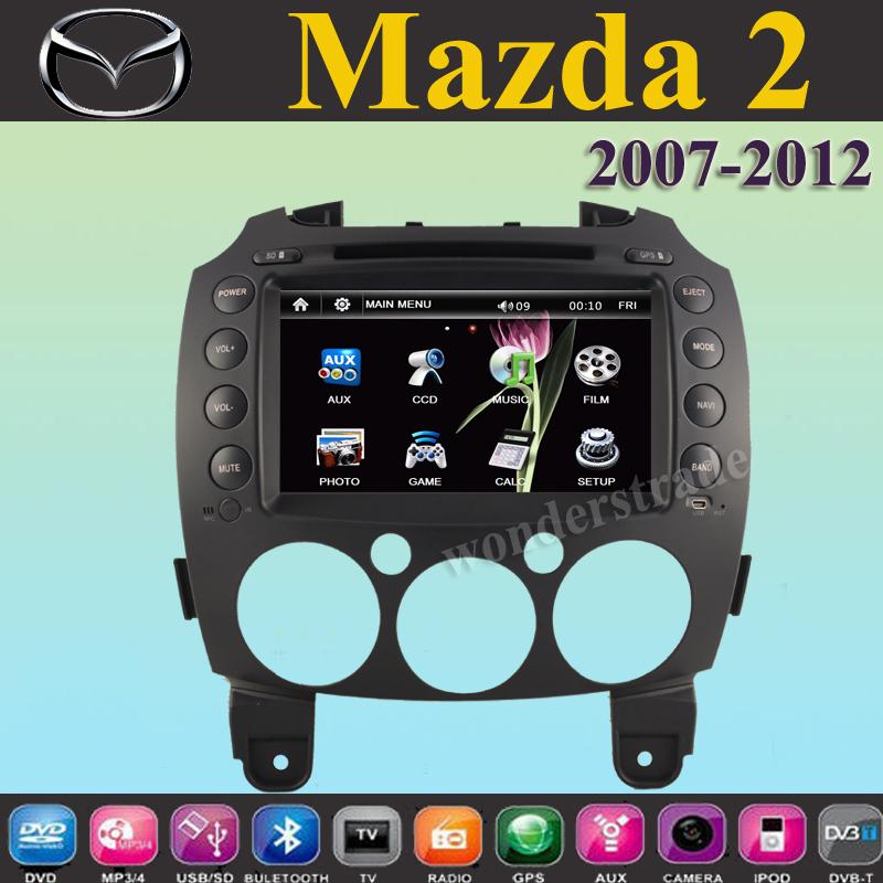 """7"""" car DVD player + GPS navigation for Mazda 2 Mazda2 ( 2007 2008 2009 2010 2011 2012 ) Free map(China (Mainland))"""