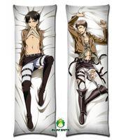 Free Shipping Anime Dakimakura hugging pillow case jr008 Attack on Titan Eren Jaeger Jean Kirstein