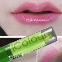 free shipping 10pcs Heterochrosis magic lipstick fruit color changing lipstick waterproof flavor pink