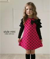 Fashion princess dress kids for girl new long-sleeve dresses autumn children's clothing polka dot ball gown