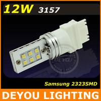 Free shipping 10pcs/lot Samsung 2323SMD 12W 3157 LED Brake light 12V 24V 510LM car light bulb car lighting