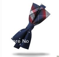Hot Sale Fashion Mens Bow Tie Silk Bowtie Pre-tie Necktie Gift Set Free Shipping 10PCS #1611
