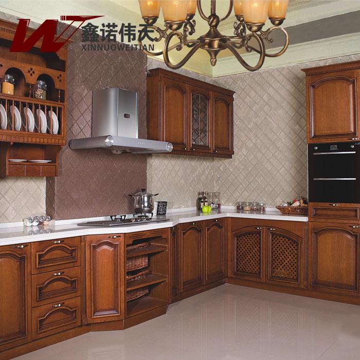 Rode Keuken Accessoires : Red Oak Wood Kitchen Cabinets