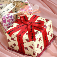 Hot-selling ribbon bow exquisite heart gift female gift jewelry box