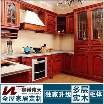 Derlook manchurian ash solid wood kitchen cabinet door fashion customize modular kitchen cabinet