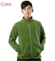 Caxa thickening outdoor fleece outerwear ultrafine Men polar fleece fabric clothing thickening fleece outdoor jacket liner 1154