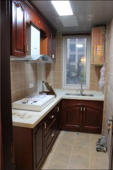 Kitchen cabinet modular kitchen cabinet customize solid wood door kitchen cabinet customize quartz countertop kitchen cabinet