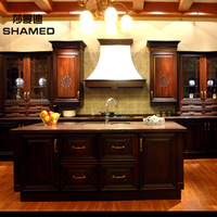 Kitchen cabinet modular kitchen cabinet customize chinese style solid wood door