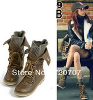 Free shipping Winter sexy motorcycle martin platform snow boots with for women lacing
