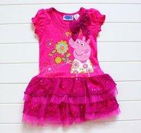 Children's dress VERY NICE girl's fashion dress peppa pig dress girl's dress ,kids wear,Freeshipping